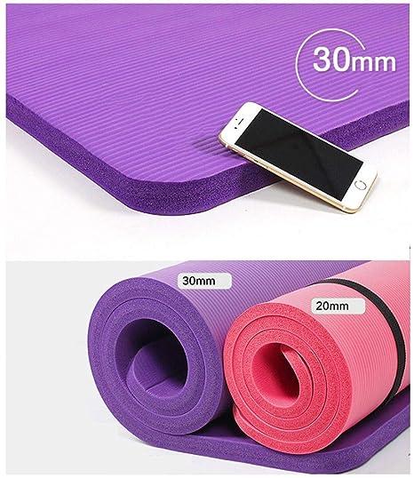 OLLVU Esterilla Yoga 20mm Grueso Monocromo Principiante ...