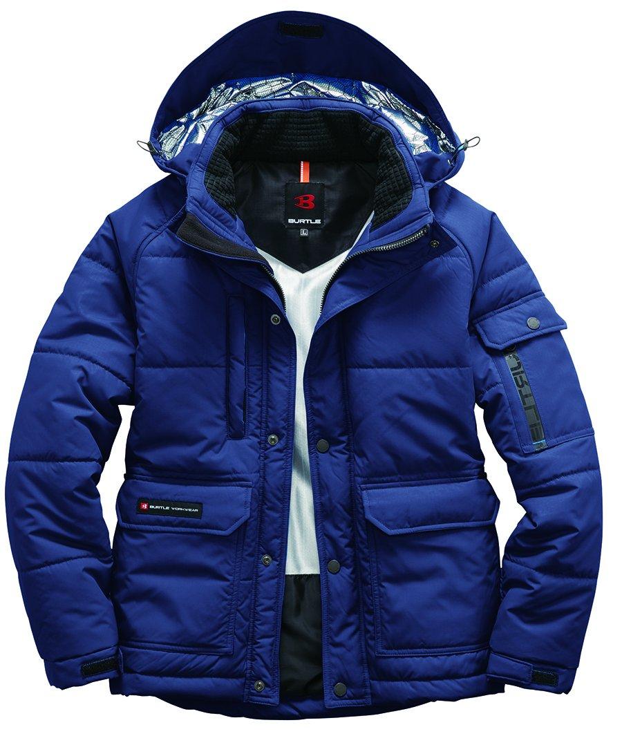 BURTLE バートル 防寒ジャケット(大型フード付)(ユニセックス) 秋冬用 ネイビー L 7510 3