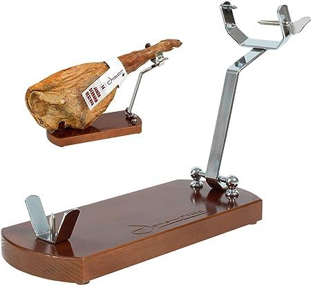 El jamonero Plegable es un jamonero fabricado en España con madera de pino insigne chileno de primer