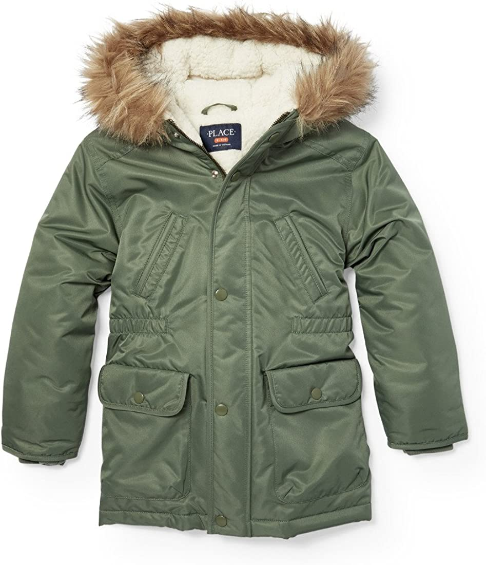Jackets Sports & Outdoors The Childrens Place Boys Big Faux