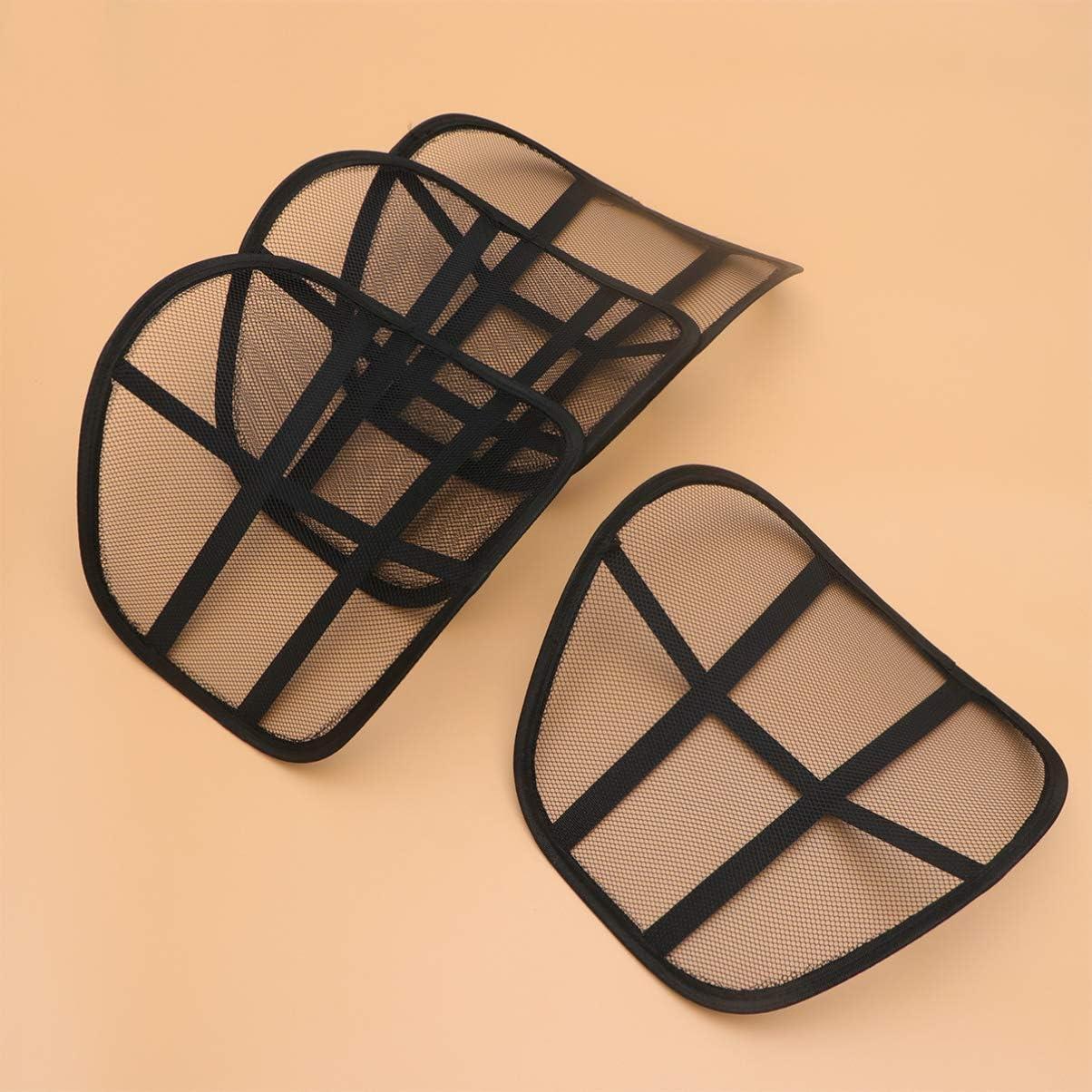 4 Unidades, Malla para Respaldo de Coche, Transpirable, c/ómodo y Transpirable HEALLILY Coj/ín Lumbar para Asiento de Coche