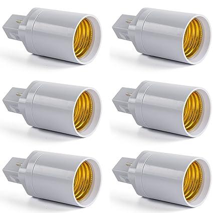 AWE-LIGHT Convertidor Adaptador de Bombilla Lampara LED G24 a E27 Base Enchufe de Tornillo