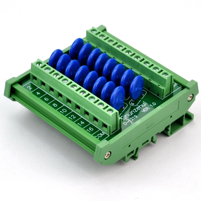 Chunzehui DIN Rail Mount 275V SIOV Metal Oxide Varistor Interface Module, 16 Channels Common. by Chunzehui (Image #5)