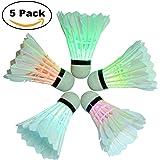 BLUBOON Badminton Set LED Shuttlecock Feather Super Bouncy Light Badminton Birdies