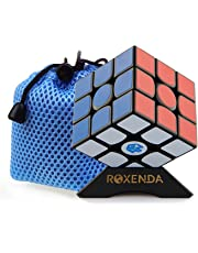 Roxenda Gan 356 Air Master 3x3 Smooth Magic Cube Ganspuzzle Speed Cube Puzzles Black with Cube Stand and Bag (Gan 356 Air Master)