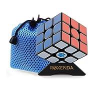 Roxenda Gan 356 Air Master 3x3 Liscio Cubo Magico Ganspuzzle Cubo di Velocità Puzzle Nero con Cube Stand and Bag