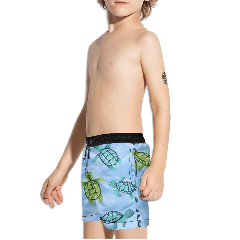 FullBo Underwater Sea Turtles Little Boys Short Swim Trunks Quick Dry Beach Shorts