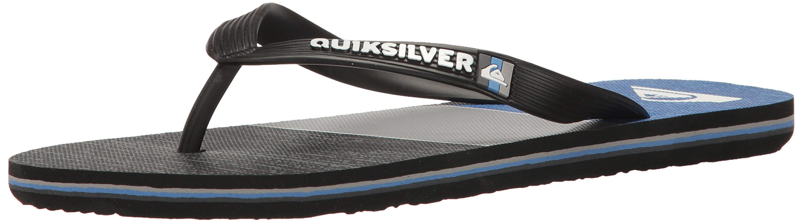 Quiksilver Men's Molokai Everyday Blocked, Black/Grey/Blue, 13 M US