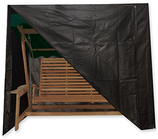 Medium image of black oxbridge 2 seater outdoor garden swinging hammock cover 2 04m x 1 1m x 1 77m