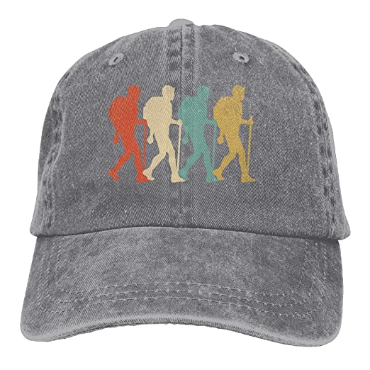 49238f656 Hiker Vintage Retro Art Hiking Camping Classic Unisex Baseball Cap ...