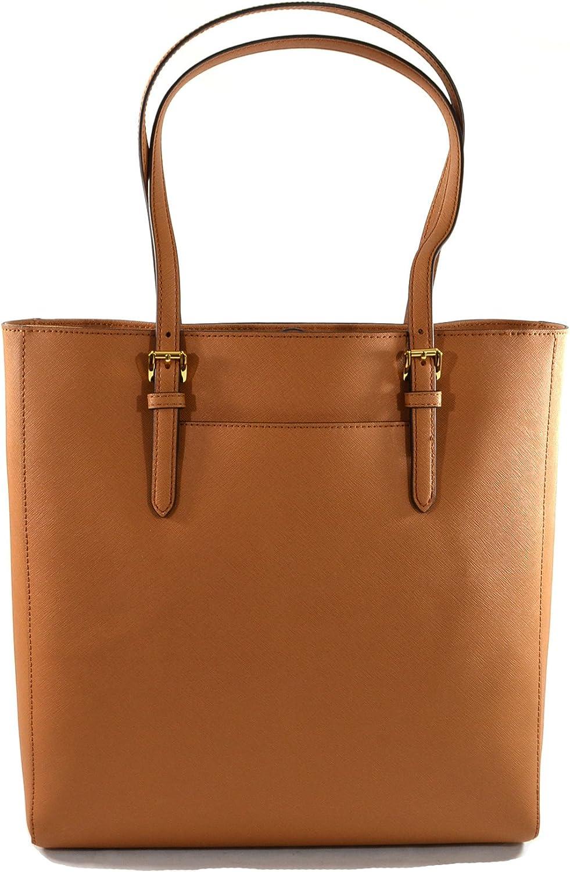Michael Kors Jet Set Travel Saffiano Leather Tote Bag, Acorn