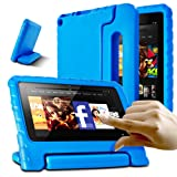 AFUNTA Fire 7 2015 Case,Light Weight Shock Proof Convertible Handle Stand EVA Protective Kids Case for A m a z o n Fire 7 inch Display Tablet (5th Generation - 2015 Release Only)-Blue