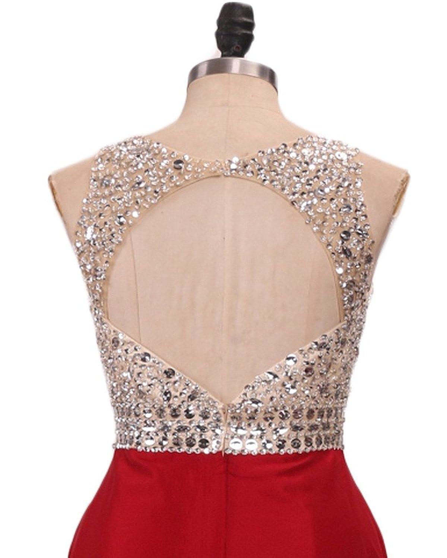 6dce15eb50d Amazon.com  LovingDress Prom Dresses A Line Scoop Tulle Open Back Long  Evening Dresses  Clothing