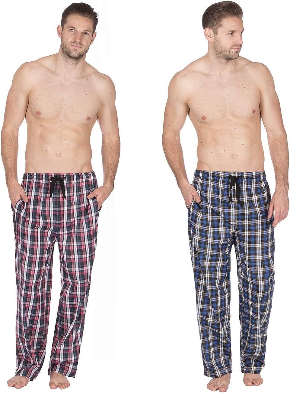 Checked Fleece Pajama Bottoms Jason Jones Mens Woven Lounge Pants