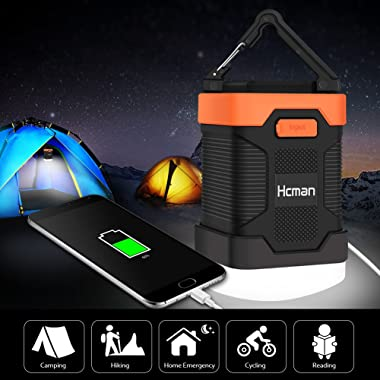 Rechargeable LED Camping Lantern & 10000mAh Power Bank - Super Bright LED Camping Lights, Portable Waterproof Lanterns for Hiking Fishing