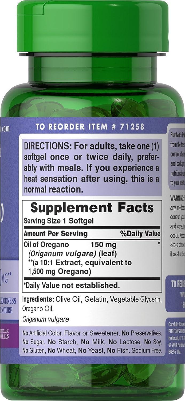 amazoncom pride oil of oregano extract mg180 softgels health u0026 personal care