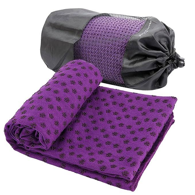 Hot Yoga Mat Toalla Manta antideslizante Con Los Puntos de placas ...