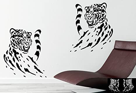 Kleb drauf 2 neonfarbene leopard sticker per la decorazione di