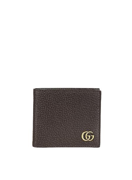 check-out 91ee9 74acc Gucci Portafoglio Uomo 428726DJ20T2145 Pelle Marrone: Amazon ...