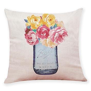 Amazon.com: Iuhan - Funda de cojín para decoración del hogar ...
