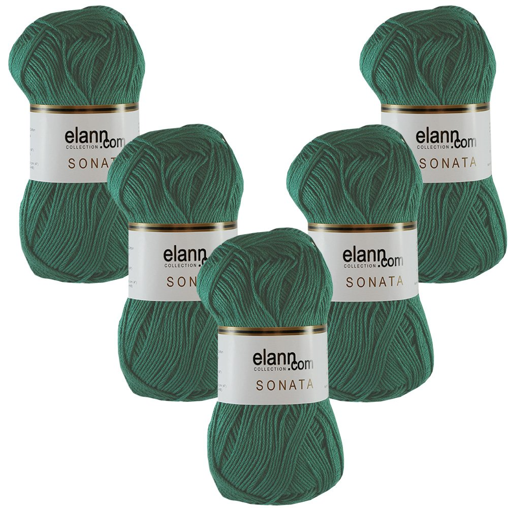 255382 Jade Green, L909284 elann Sonata Yarn   5 Ball Bag   6319 Soft Periwinkle