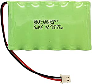 GEILIENERGY 300-03864-1 1100mAh Backup Battery for ADT ADI Ademco Lynx WALYNX-RCHB-SC Honeywell Lynx Touch K5109, L3000, L5000, L5100
