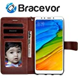 Bracevor Leather Flip Cover Case for Xiaomi Redmi 5 (Executive Brown)