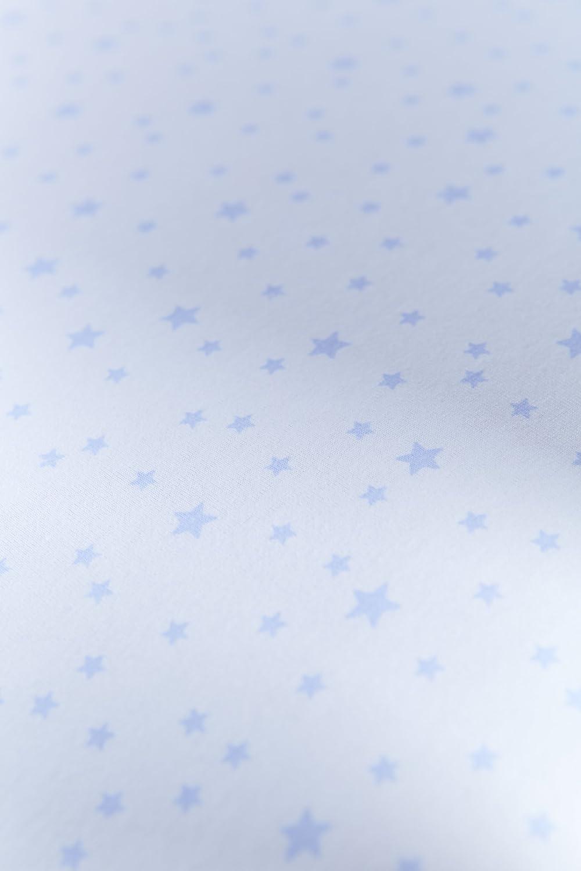Couffin en osier gris clair de lune Bleu, /étoiles et rayures