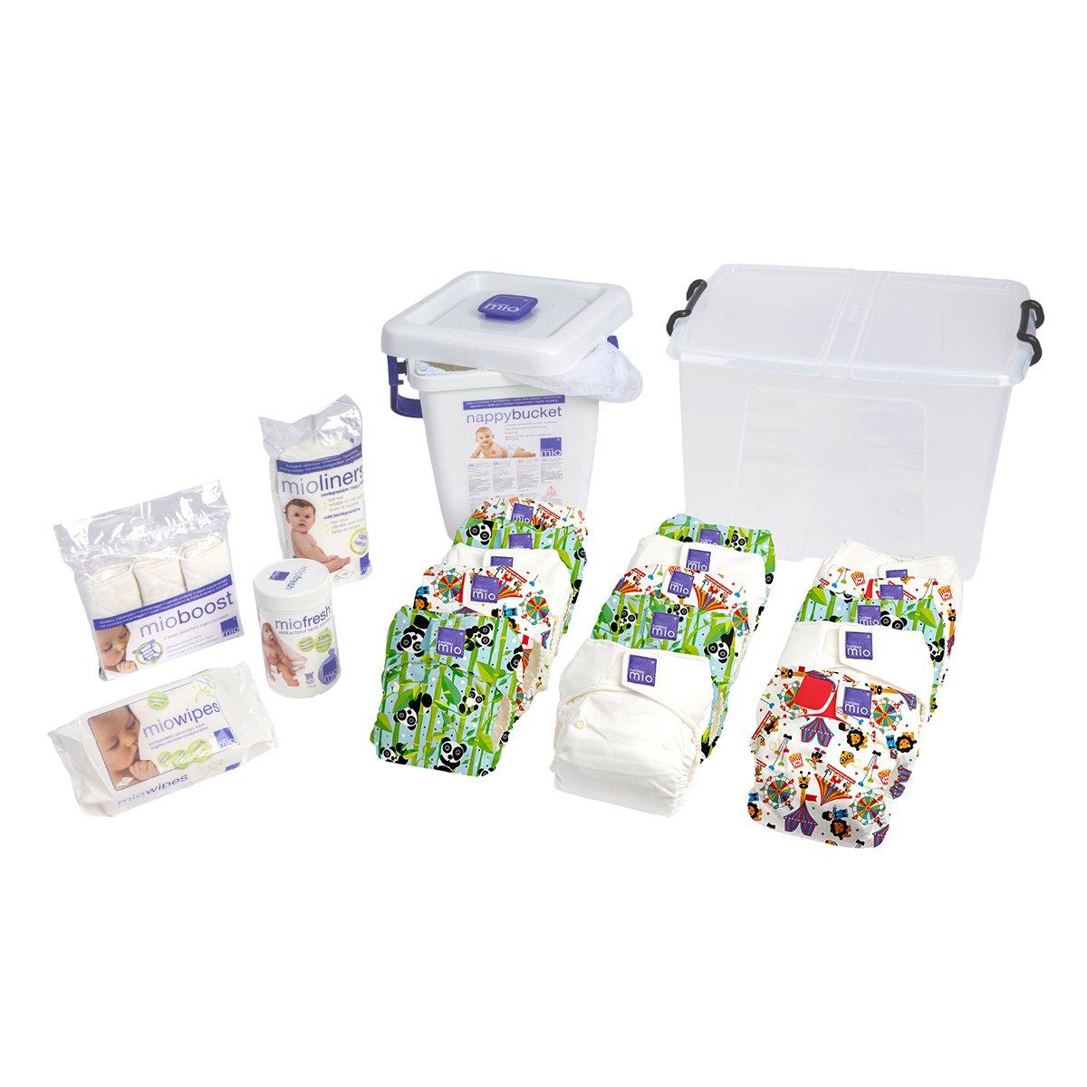 Bambino Mio, Miosolo Cloth Diaper Premium Birth to Potty Pack, OneSize, Unisex