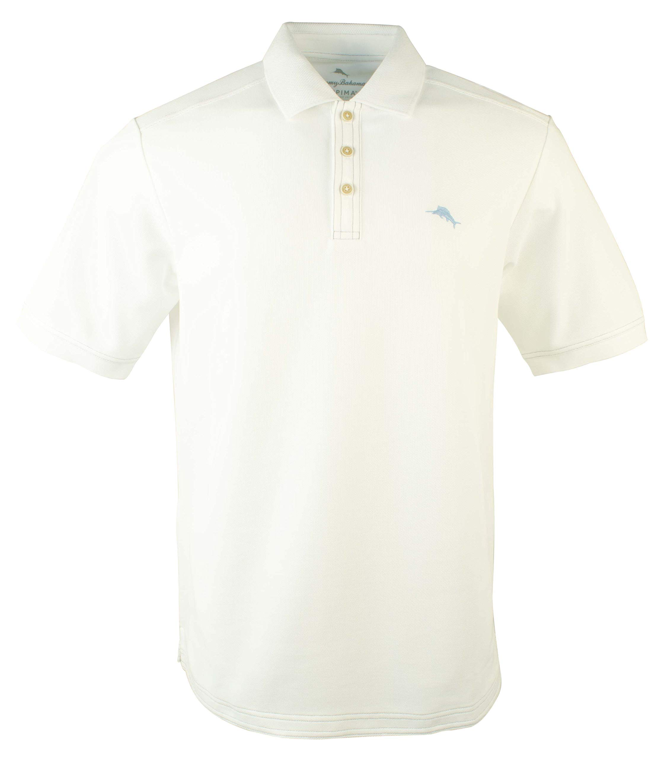 Tommy Bahama Men's Big and Tall Emfielder Polo Shirt-BW-XXLT