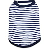 DroolingDog Dog Striped Clothes Cotton Vest Basic Apparel for Small Dogs