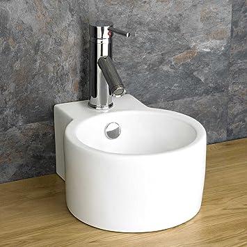 Clickbasin Zähler Mount Scafati Waschbecken, Keramik, Rund, Weiß ...
