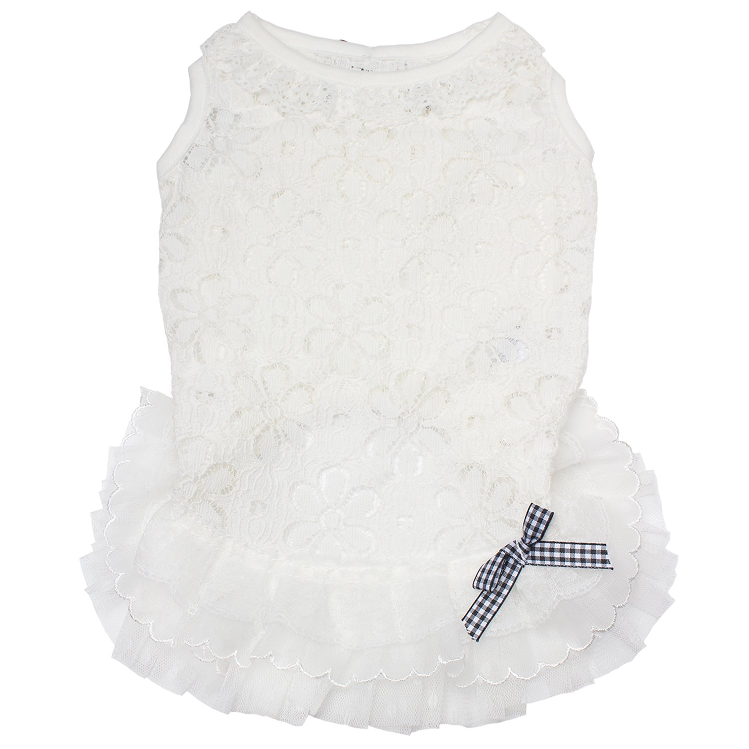 Amazon.: TONY HOBY Pet Dog Lace Dress Dog Wedding Dress Dog