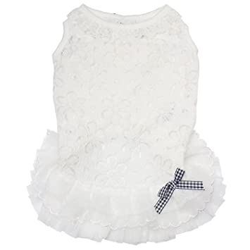 Amazon.com: TONY HOBY Pet Dog Lace Dress Dog Wedding Dress Dog