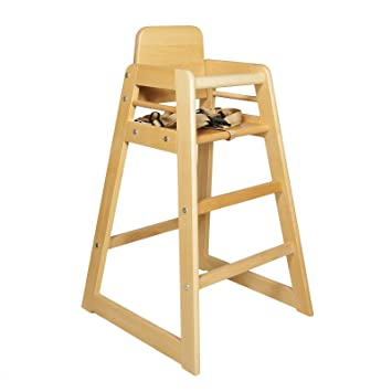 new quality beech wood baby toodler highchair restaurant cafe