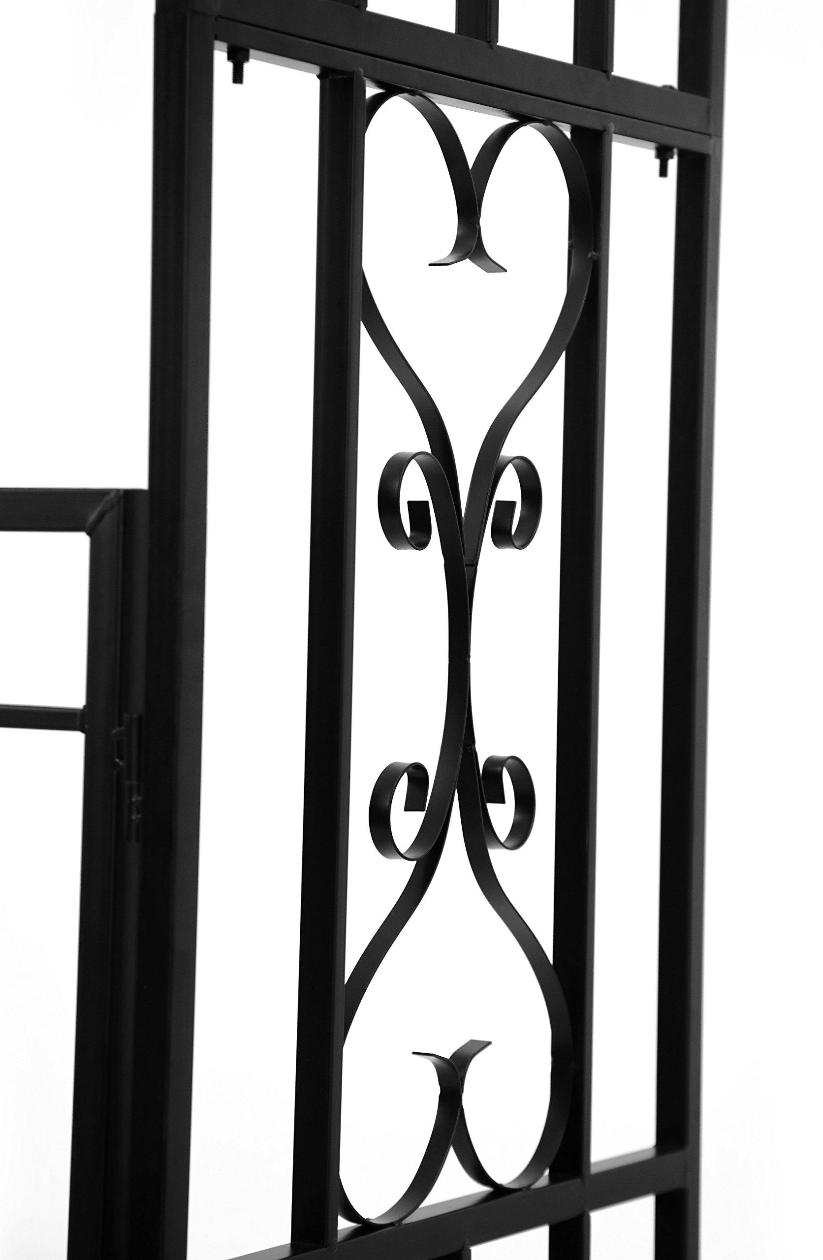 1. GO Steel Garden Arch with Gate, 6'7'' High x 3'7'' Wide, Garden Arbor for Various Climbing Plant, Outdoor Garden Lawn Backyard by 1. GO (Image #9)
