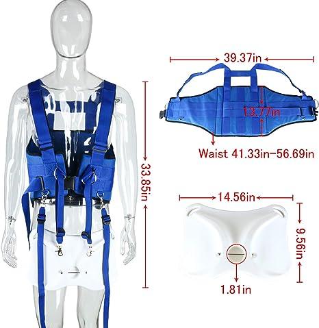 Boat Fishing Rod Holder /& Stand Up Fighting Belt Shoulder Back Harness Blue