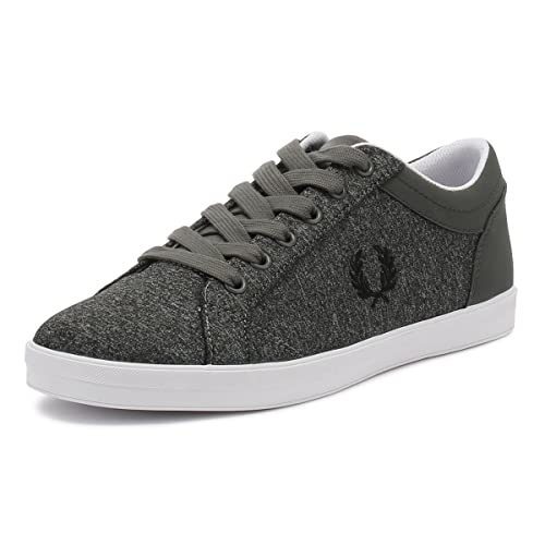 5fc78bb4e Fred Perry Baseline Bonded Marl Falcon Grey  Amazon.co.uk  Shoes   Bags