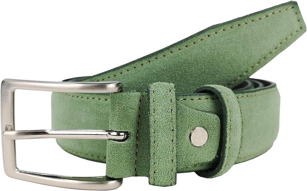 MYB Cintura uomo in vera pelle scamosciata diversi colori e taglie disponibili Made in Italy altezza 35 mm