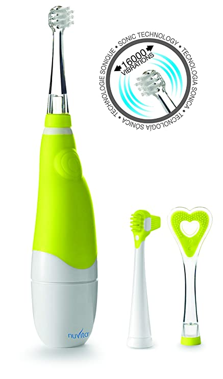 Nuvita 1150 Cepillo Dientes Bebe - Cepillo Dental Bebe Eléctrico Sonic 3 en 1 – 3