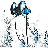 Professional IPX8 High-Level Waterproof Sport Wireless Bluetooth Headset Ear Hanging Type Running Earphone Super Fashion New Style Shark BH802 Blue