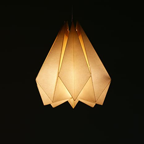 Brownfolds Paper Origami Lamp Shade Vanilla Bliss Single Pack Pearl Gold