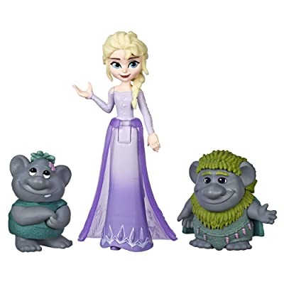 Disney Frozen Elsa Small Doll with Troll Figures Inspired by The Frozen 2 Movie: Toys & Games