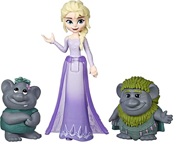 Hasbro Disney Frozen 2: Elsa Small Doll with Troll Figures Pack ...