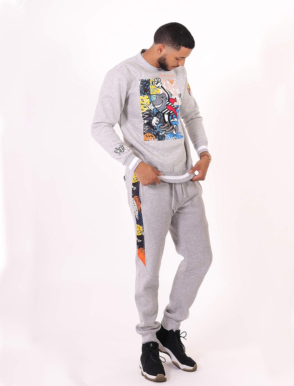 Street Fashion Sweatpants Ribbed Wasteband with Drawstring SCREENSHOT Mens Hip Hop Premium Slim Fit Urban Fleece Pants