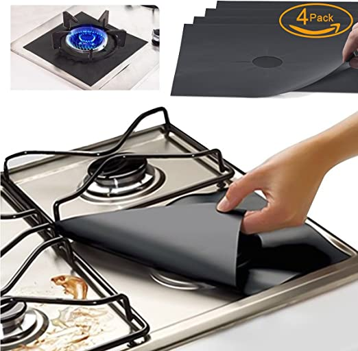 FORHOMER sbc01 Gas Range Protectors, Kitchen Accessories Gas Stove Burner  Liners Fda Approved, Reusable, Non-Stick Stove Top Burner Protectors, Set  of ...