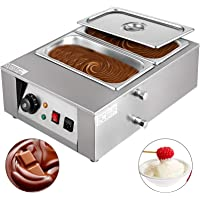 Happybuy 1000W Electric Chocolate Melting Pot Machine, 2 Tanks Commercial Electric Chocolate Heater,17.6LBS Capacity Thermal Insulation Heating Machine,for Chocolate Cheese Soup,32-176℉