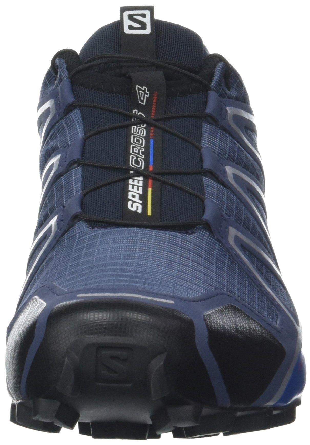 Salomon Men's Speedcross 4 Trail Runner, Slate Black/Blue Yonder, 7 D US by Salomon (Image #4)