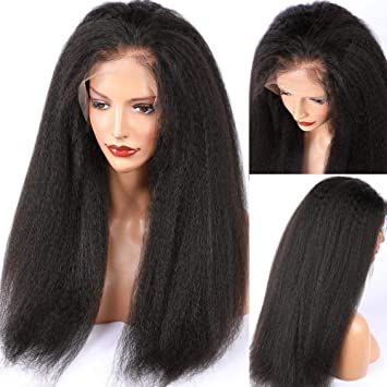 ALYSSA Kinky Straight Full Lace Wigs With