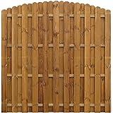 vidaXL Pannello di recinzione Hit & Miss verticale in legno design ad archi